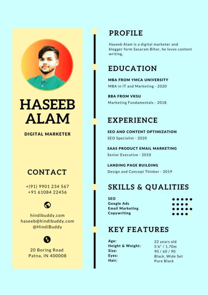 Digital Marketing Resume Format Kaise Banaye