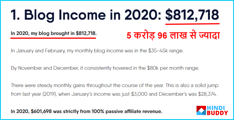 adam enfroy blog income report in hindi