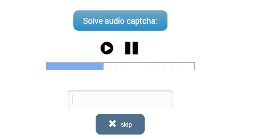 Audio Captcha