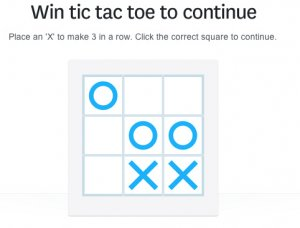 Tic Tac Toe Captcha