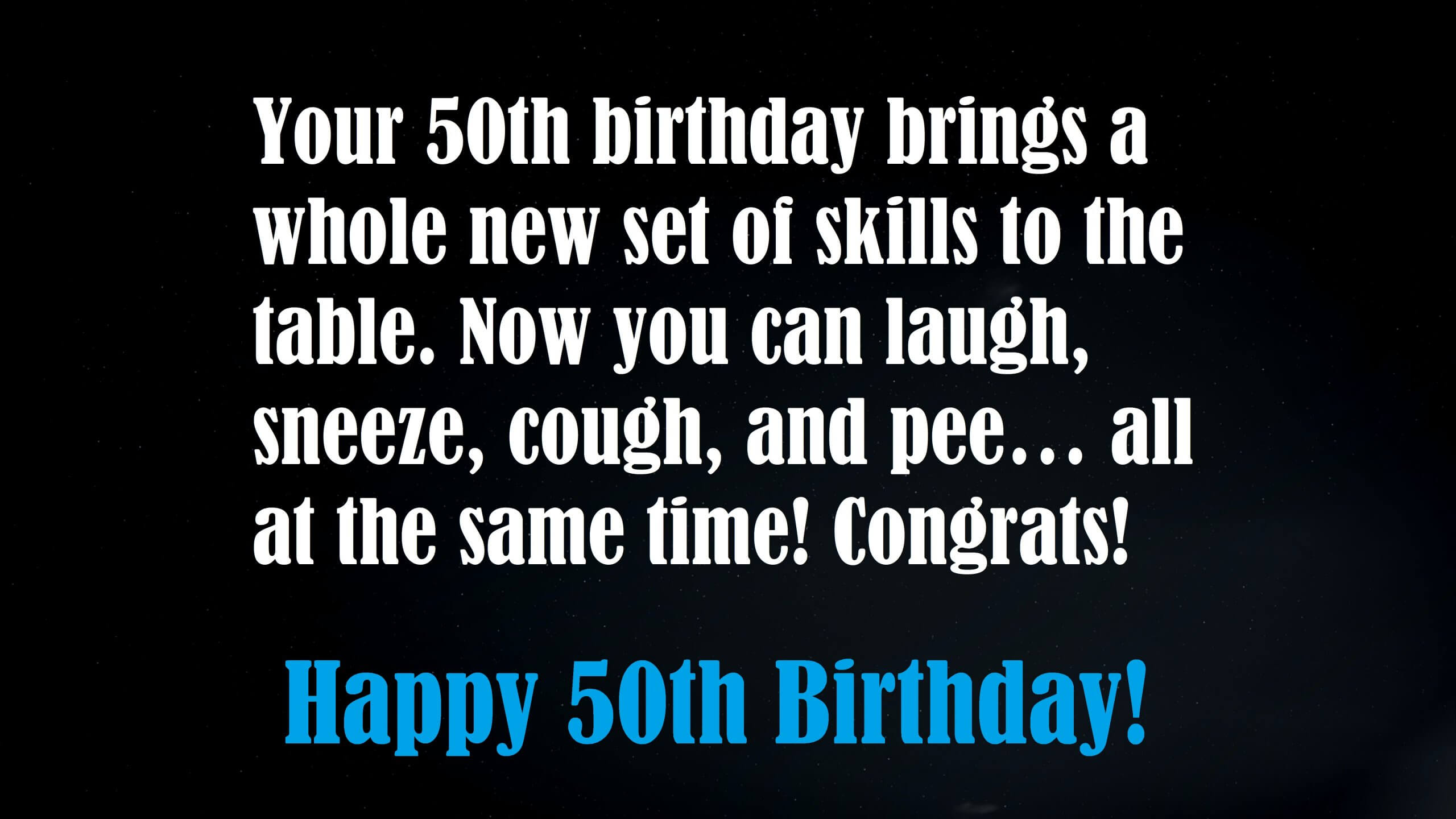 Funny 50th Birthday Wishes 52 Humor Messages Quotes Sayings On Birthday