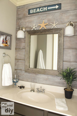 Coastal Bathroom Wall Decor Ideas