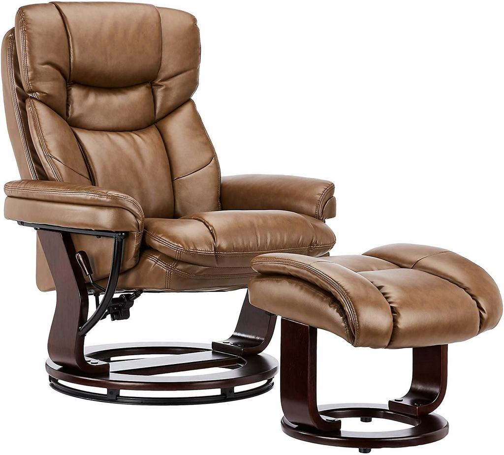 JC Home - Contemporary Palomino Leather Recliner