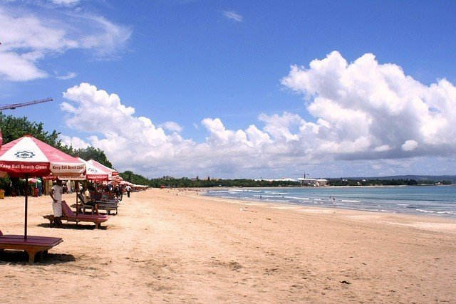 Kuta Beach for a Bali honeymoon