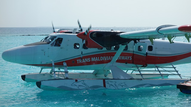 Sea plane in Maldives