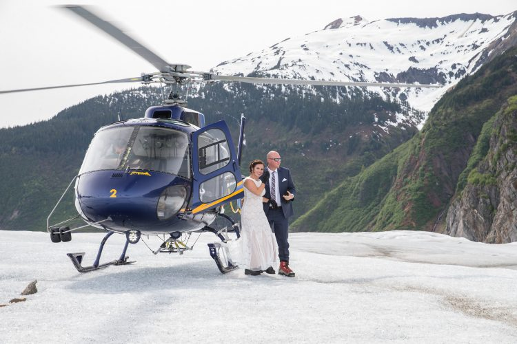 Wedding on a glacier