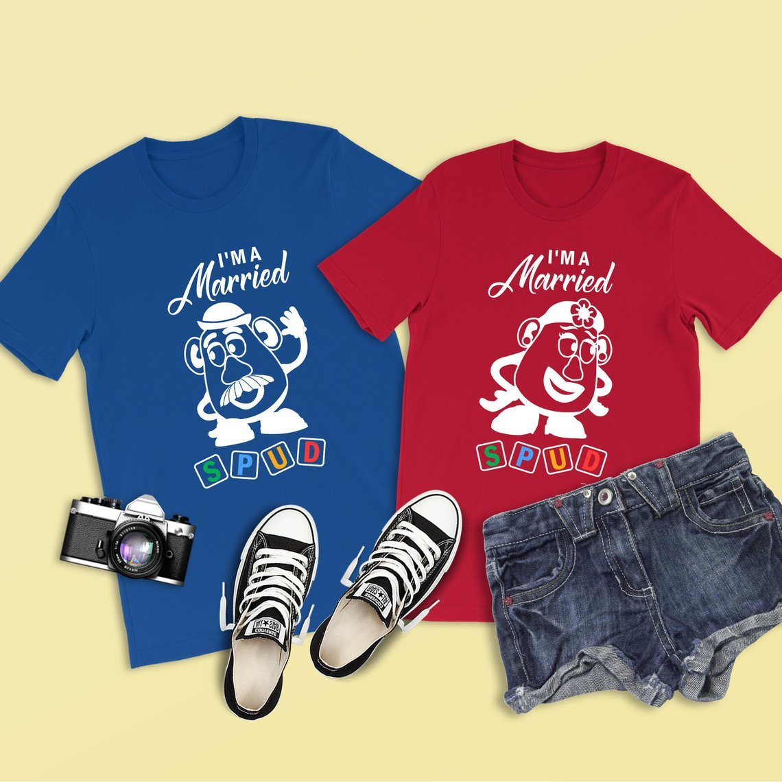 Married Spud Toy Story Couples Tee