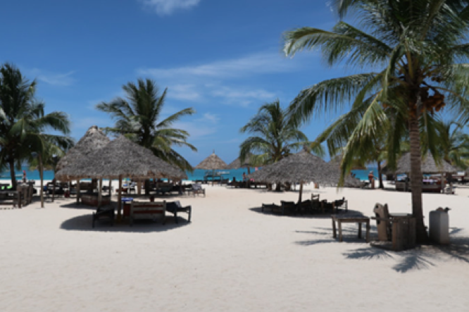 honeymoon resort in Tanzania on the beach