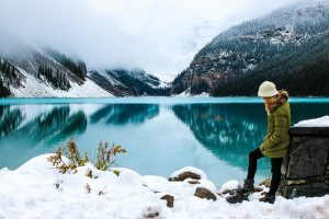 snowy canada for honeymooners