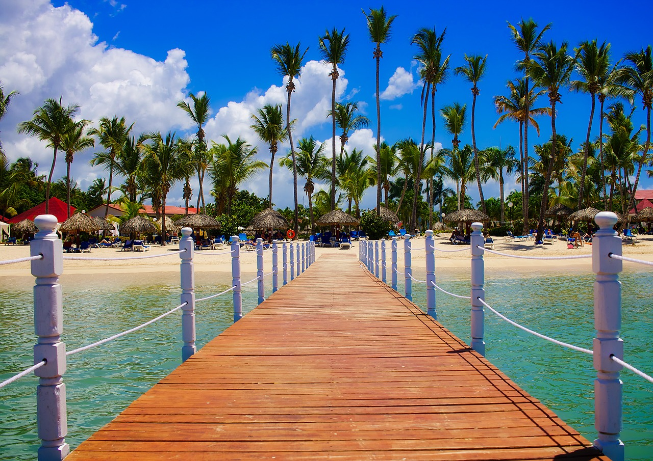 A pier in the dominican republic