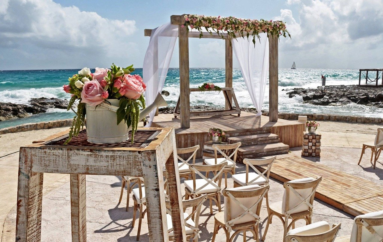 beachfront wedding