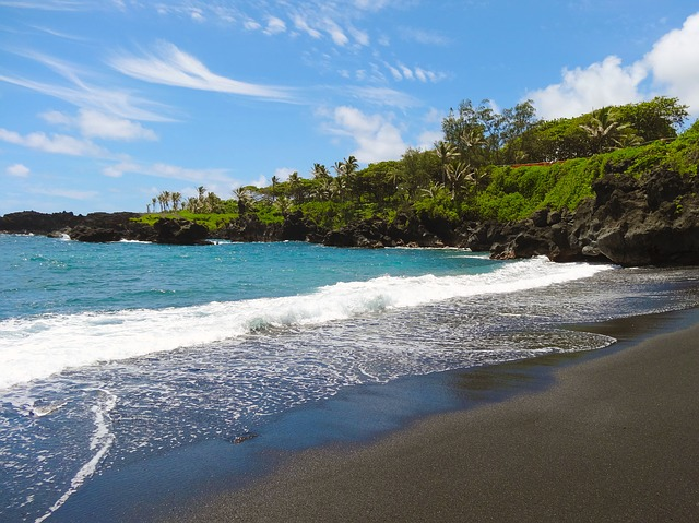 Black sand beach Makena
