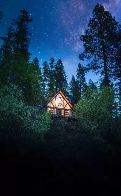 Romantic A-frame Cabin with a View