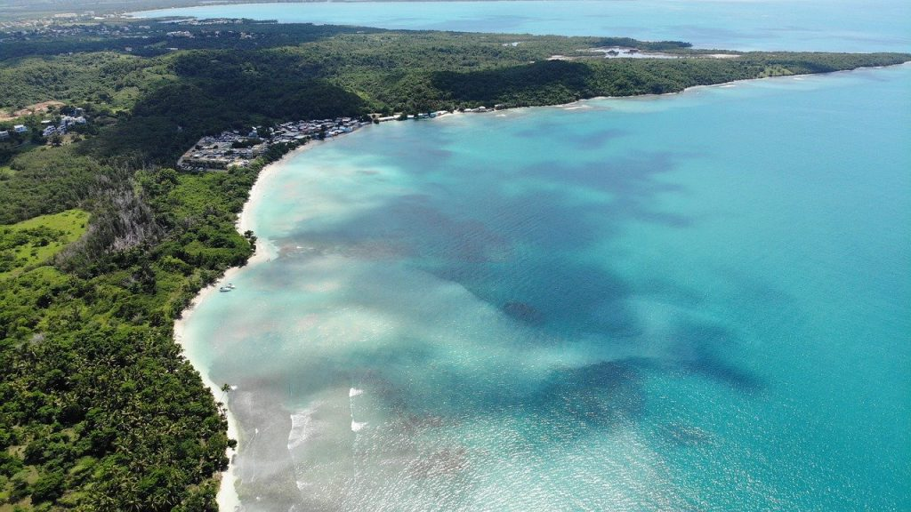 Puerto Rico Beaches, aerial view