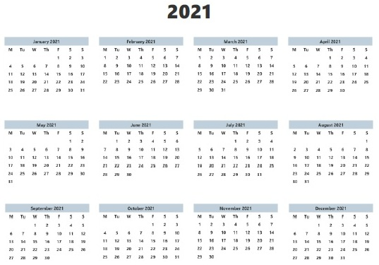 Free Printable 2021 Monthly Calendar with Holidays Word ...