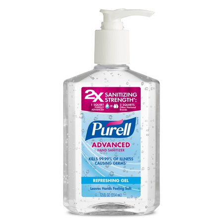 3 Pack Purell Advanced Refreshing And Moisturizing Gel Hand
