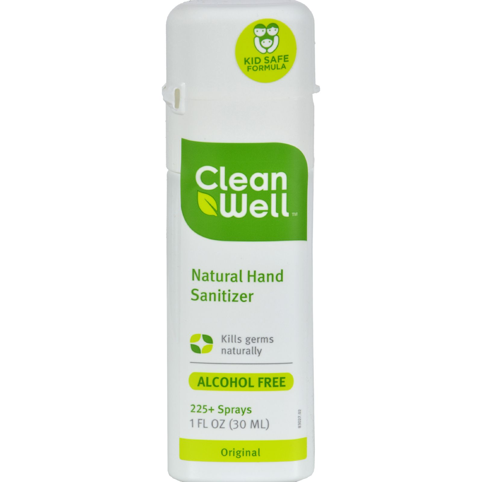 Cleanwell All Natural Hand Sanitizer Spray Alcohol Free 1 Fl Oz