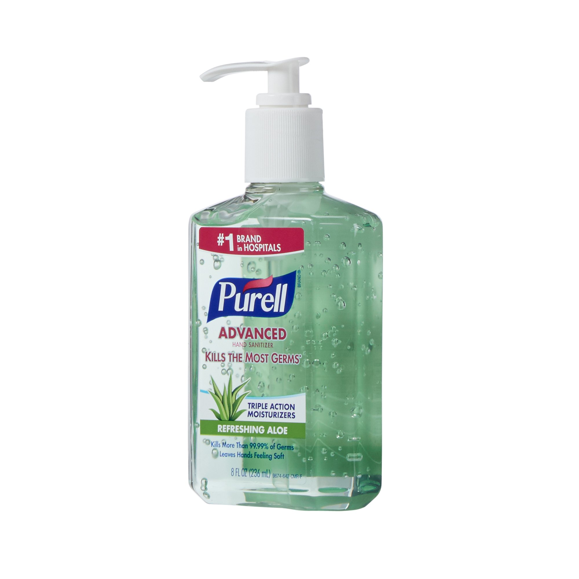 Purell Hand Sanitizer With Aloe 8 Oz Ethyl Alcohol Gel Pump