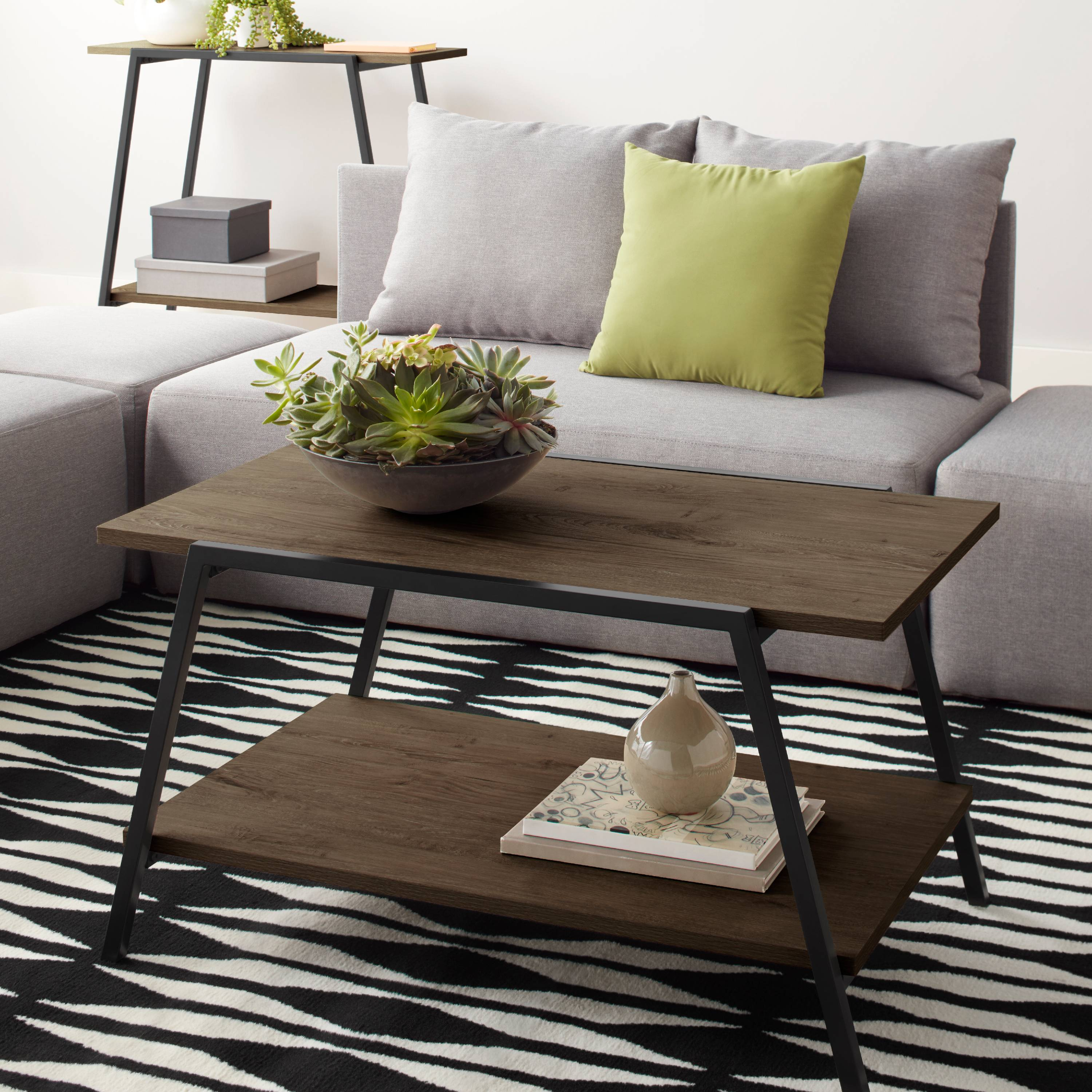Mainstays Conrad Coffee Table Multiple Finishes Walmart Com
