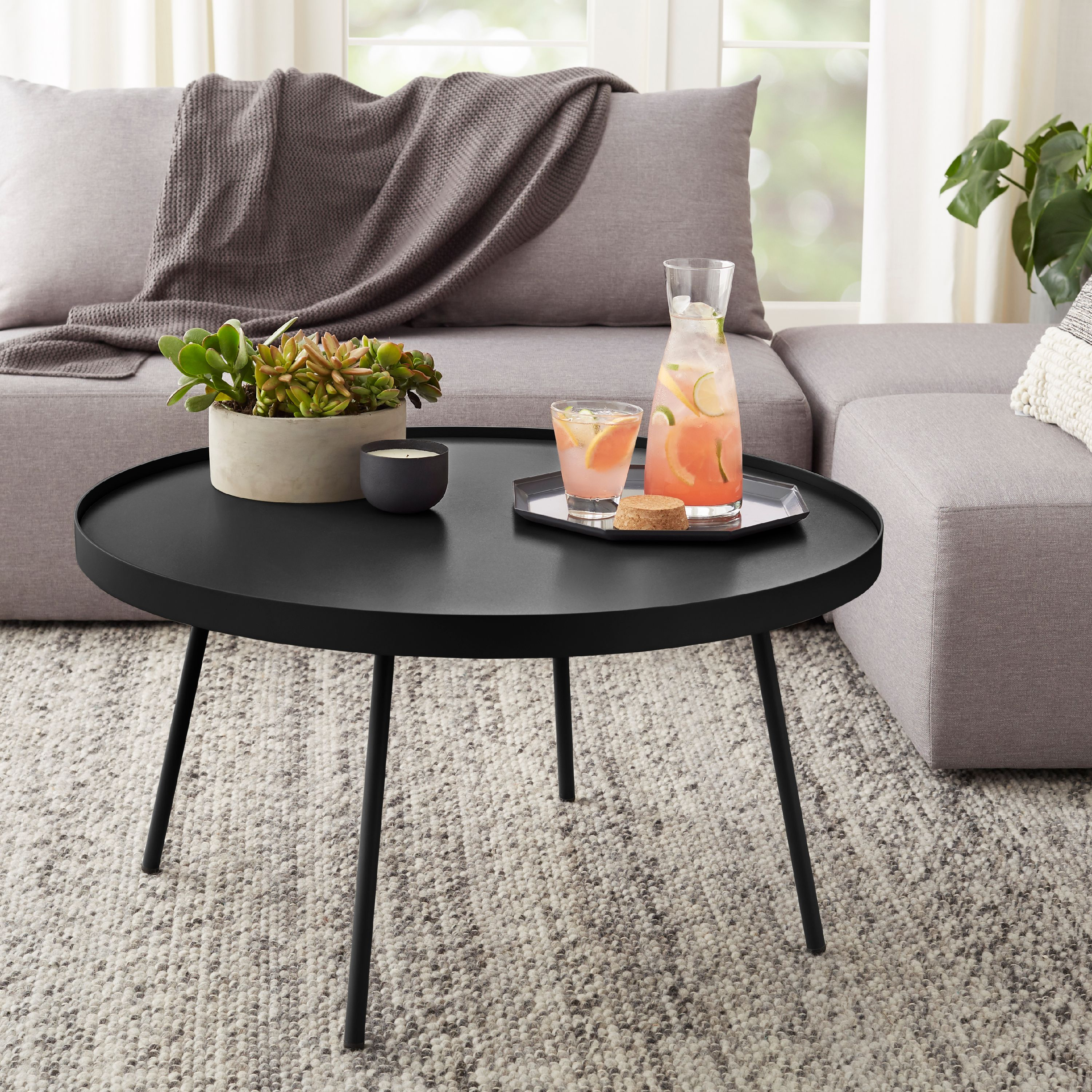 Mainstays Arlo Round Coffee Table Multiple Finishes Walmart Com