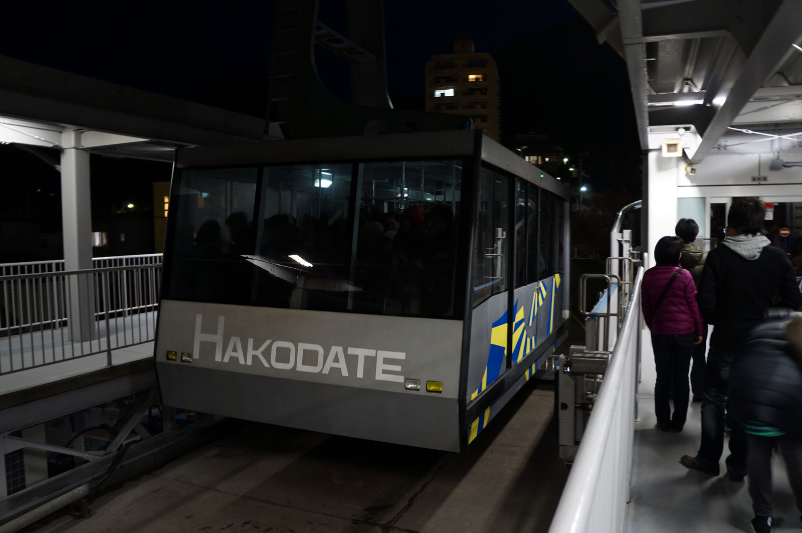 I use this ropeway to get to the top of Hakodateyama :)