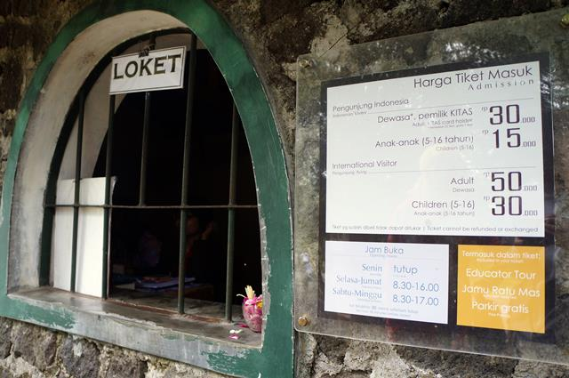 The ticket of Ullen Sentalu Museum was IDR 50000 for Adult, and IDR 30000 for children.