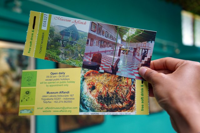 Affandi Museum location is easy to find and the tickets is not too expensive.