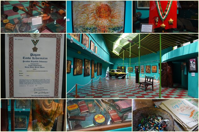Inside the first gallery of Affandi Museum.