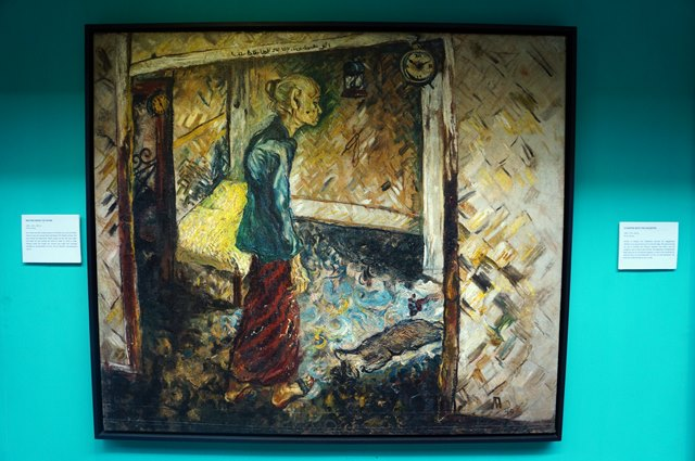 One of painting at Affandi at the first gallery that I loved. The title is Mother Inside The Room.