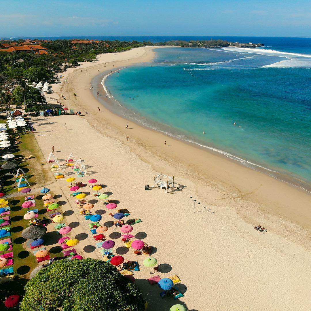 Nusa Dua Bali, with its famousNusa Dua Beach Bali is one of the best tourist attractions! via @worldscenes_