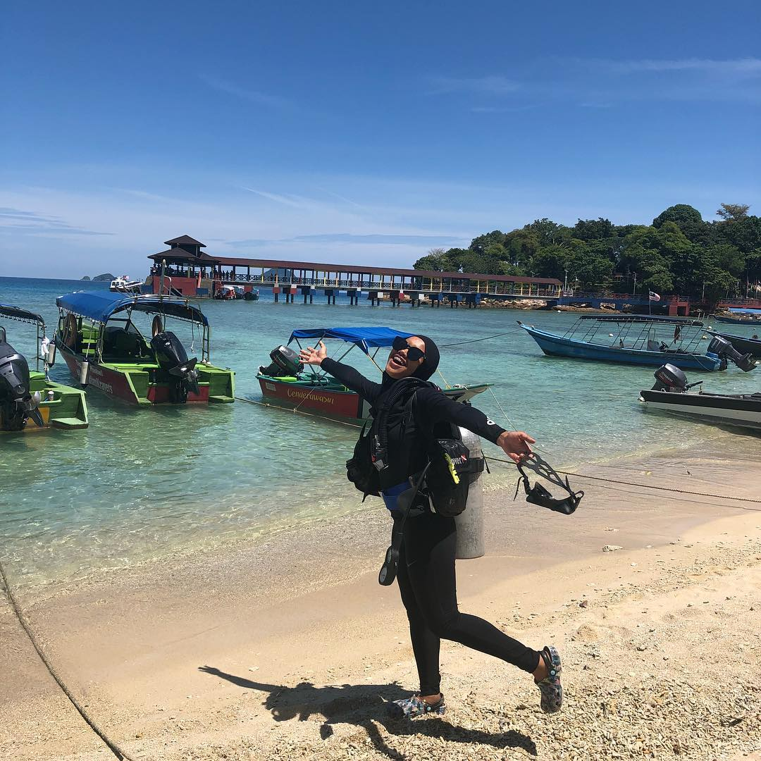 Pulau Redang is a tourist spot in Malaysia which is popular among diving sports lovers.