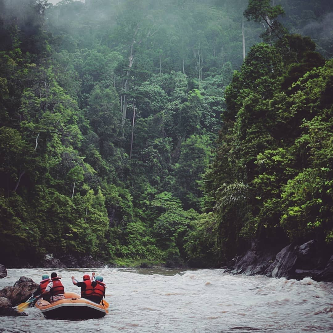 Alas River Aceh, Wild Streams Over casted by Tropical Forest