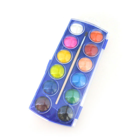 China 12colors Solid Watercolor Paint Set Washable Water Color