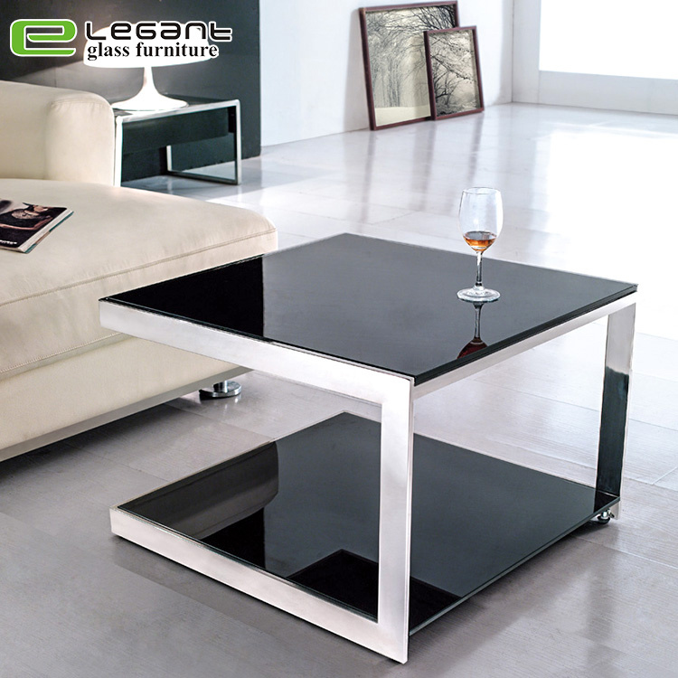 China Modern Living Room Furniture Luxury Stainless Steel Glass