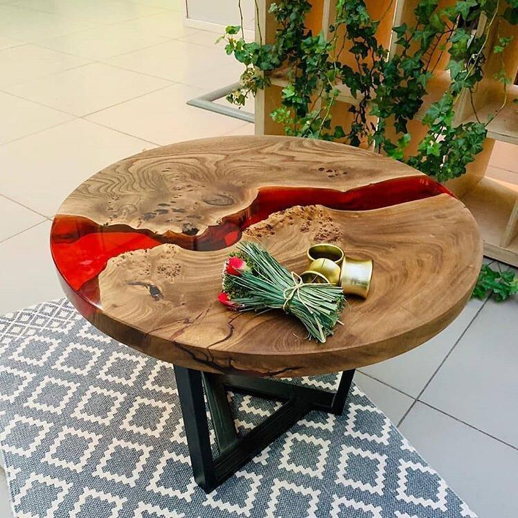 China Epoxy Resin Table Resin Wood Epoxy Table Coffee Table Wood