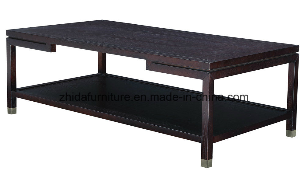 China Oriental Antique Solid Wood Square Black Coffee Table