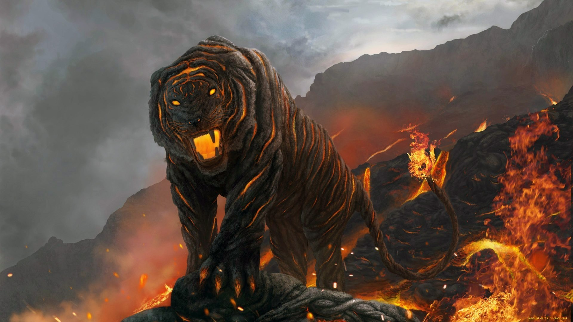 Fire Cool Tiger Wallpapers