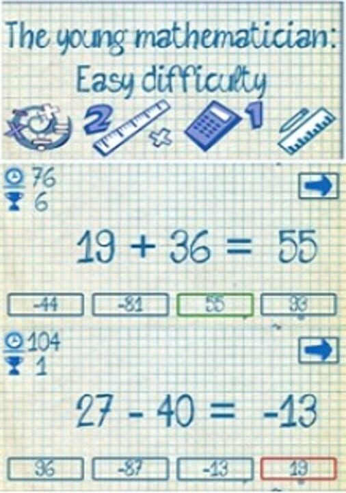 The young mathematician: Easy difficulty