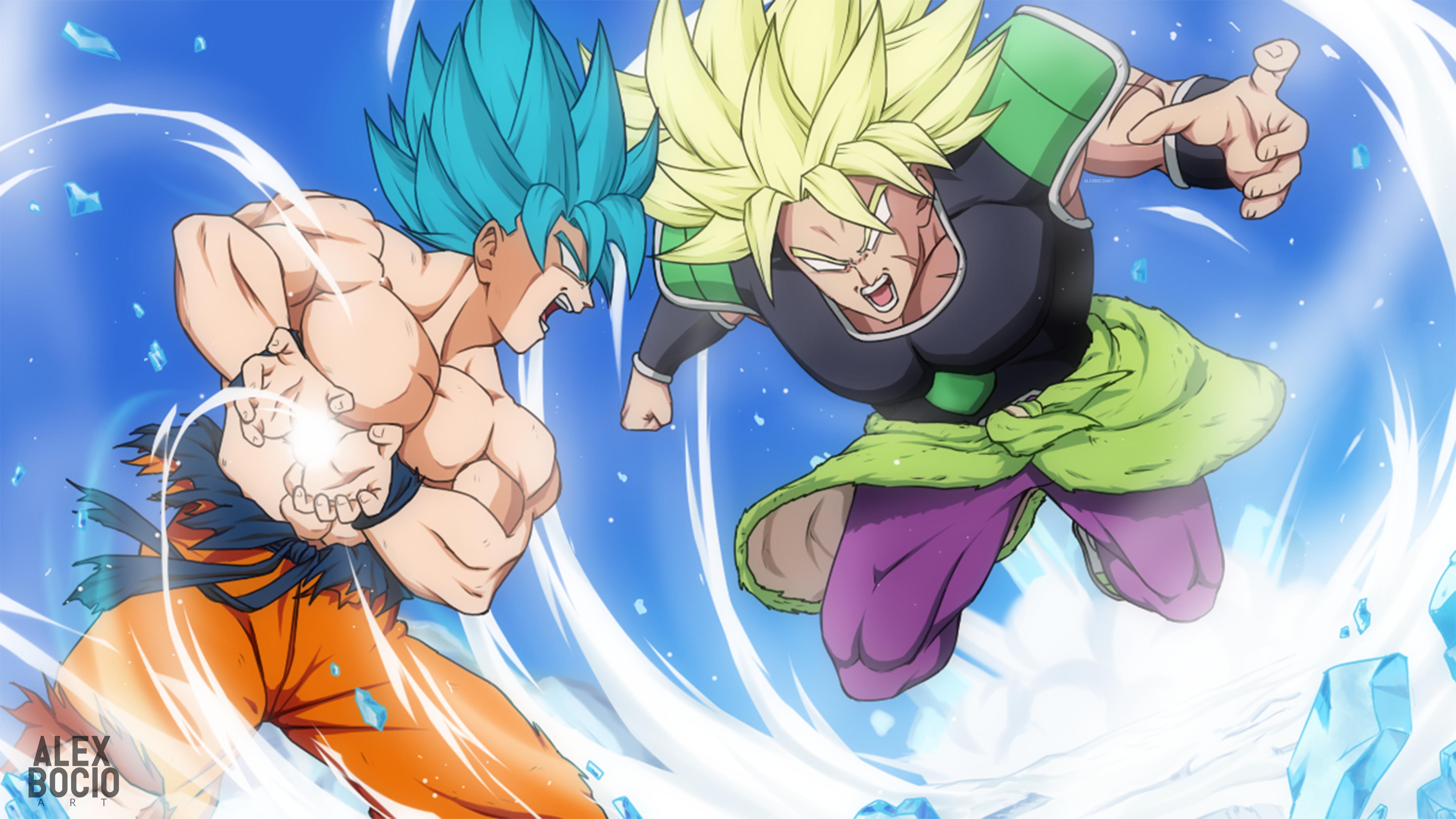 Goku Vs Broly Wallpaper Hd