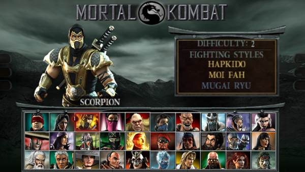 MORTAL KOMBAT UNCHAINED ppsspp1