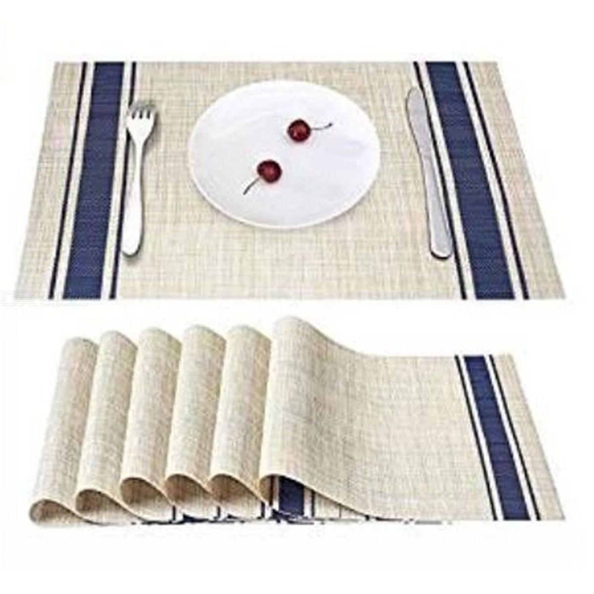 Simple Fashion Tableware Mats Modern Pvc Square Table Pads