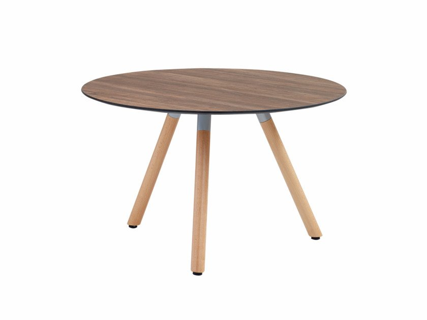Round Coffee Table With Wooden Legs Jet 522t Jet Collection By Et Al