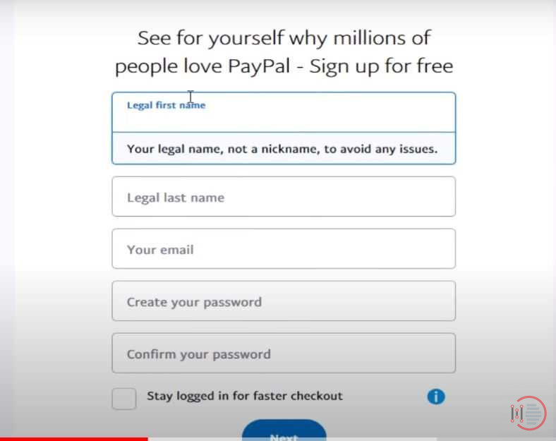 How To Create A Pay Pal Account 1