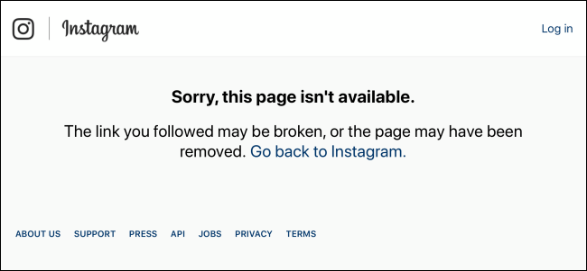 Instagram-showing-page-not-found-for-temporarily-disabled-Instagram-account