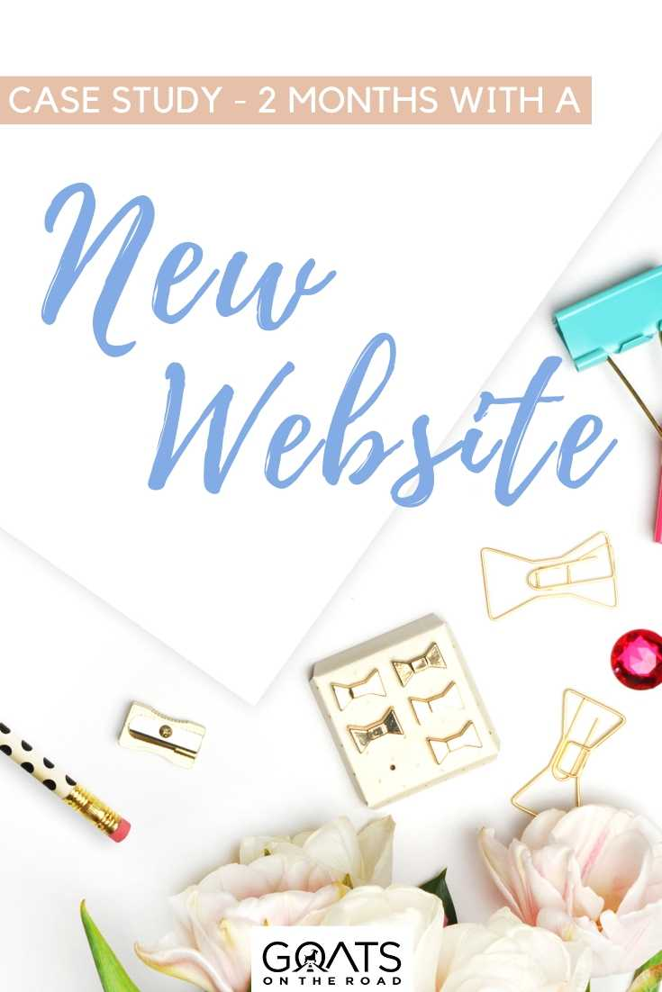 """""""Case Study - 2 Months With a New Website"""