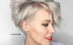 Pastel Pixie Haircuts with Curly Bangs