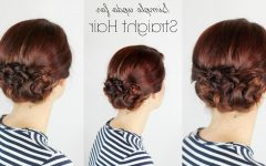 Quick and Easy Updo Hairstyles for Long Straight Hair