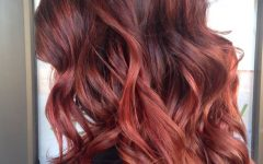 Bright Red Balayage on Short Hairstyles