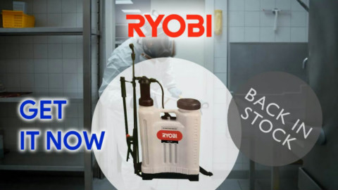 Get the Ryobi Pressure Sprayer for all your disinfecting needs!