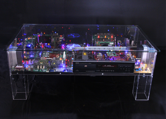 Electri City Benjamin Yates Creates Miniature Sci Fi Worlds From